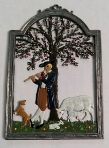 Window painting from tin ornament Wilhelm Schweizer Diessen pewter