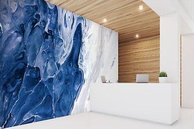 D astratto blu texture piastrelle marmo muro carta