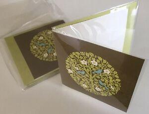 Vera Bradley Little Note Card in Sittin In A Tree Set Of 4 New In Package