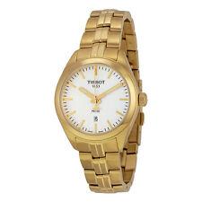 Tissot PR100 Lady Silver Dial Gold PVD Ladies Watch T1012103303100