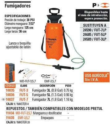 TRUPER EMP-GAT-6 Replacement gaskets for 6-ton bottle jack