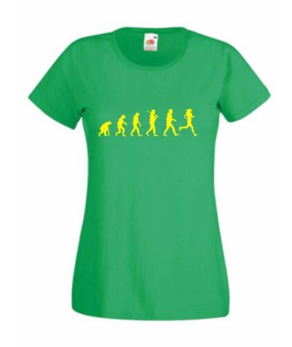Laufen Läufer Evolution joggen Jogger Joggerin T-Shirt Damenshirt Geschenk S415