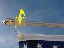 Make Your Flag Pole Tangle Free W/ Never Furl No Furl 3/4 Inch Same Day Shipping