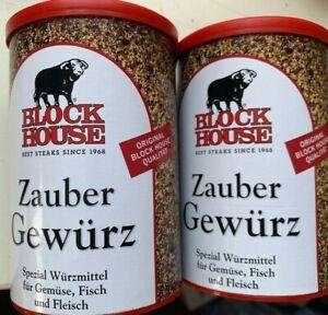 2-Dosen-Block-House-Zaubergewuerz-280g-VIP-Gewuerz-Wuerzen-Grill-Grillen-BBQ