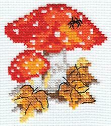 Fly agaric Alisa Counted Cross Stitch Kit Mushrooms