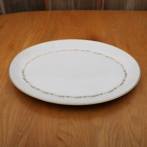 Mikasa-Stanton-5405-Oval-Serving-Platter-Gold-Flowers