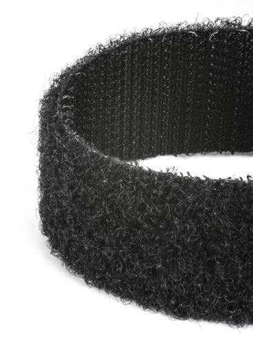 Black 5CM wide VELCRO® Brand Hook and loop Self Adhesive sticky back tape