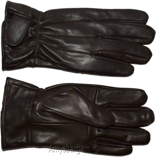 Men/'s gloves X Large Brown Unbranded men/'s hand warmer winter leather gloves BN