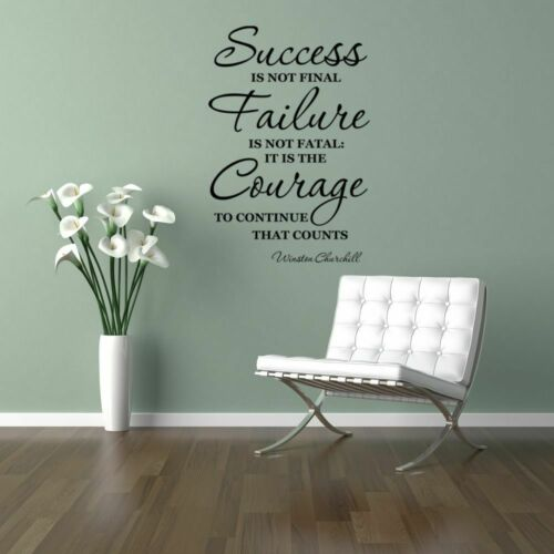Winston Churchill quote wall art sticker inspirational home lounge living room