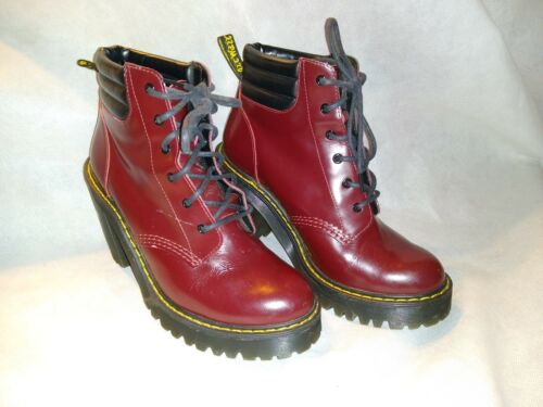DR. Martens Persephone Burgundy Woman's Size-6 Hig