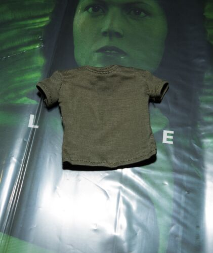 Hot Toys Alien Ellen Ripley Green Top T Shirt 1//6 MMS366 Military Army