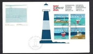 Canada   # 1063 - 1066  SS   CANADIAN LIGHTHOUSES    New 1985 Unaddressed Cover
