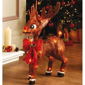 Rentier-35-LED-warmweiss-Sisal-Glitter-Weihnachtsdeko-Lichterkette-Beleuchtung