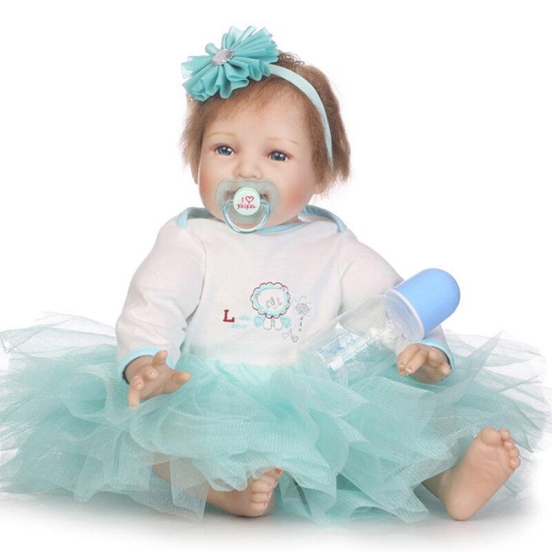 Realistico RE Bambole Fatte a Mano in vinile in silicone realistica NEW Girl Doll