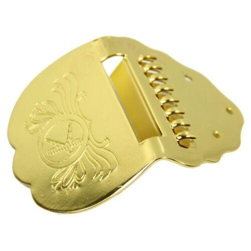 1 Stueck K Wort Golden faecherfoemig Mandoline Ersatz Saitenhalter 7cmx5cm M5 VG
