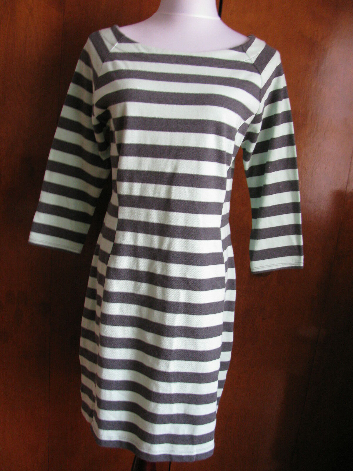 Gap Woherren Striped Fitted 3 4 Sleeves Dress Größe Large, XLarge NWT