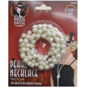 20er 20er 1920er Jahre Flapper Kostüm Perlenkette Perlen 180cm Von Smiffys Volumen Groß Kostüme & Verkleidungen Accessoires