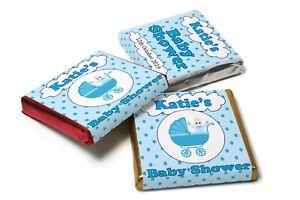 24-x-Personalised-Chocolate-Neapolitan-039-s-Baby-Shower-U-WRAP-Chocolates-supplied