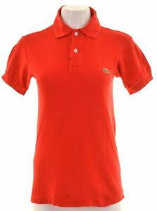 LACOSTE-Womens-Polo-Shirt-Size-12-Medium-Red-Cotton-KG02