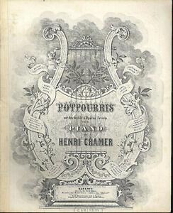 Potpourri-aus-034-Die-Meistersinger-034-von-Henri-Cramer-alte-uebergrosse-Noten