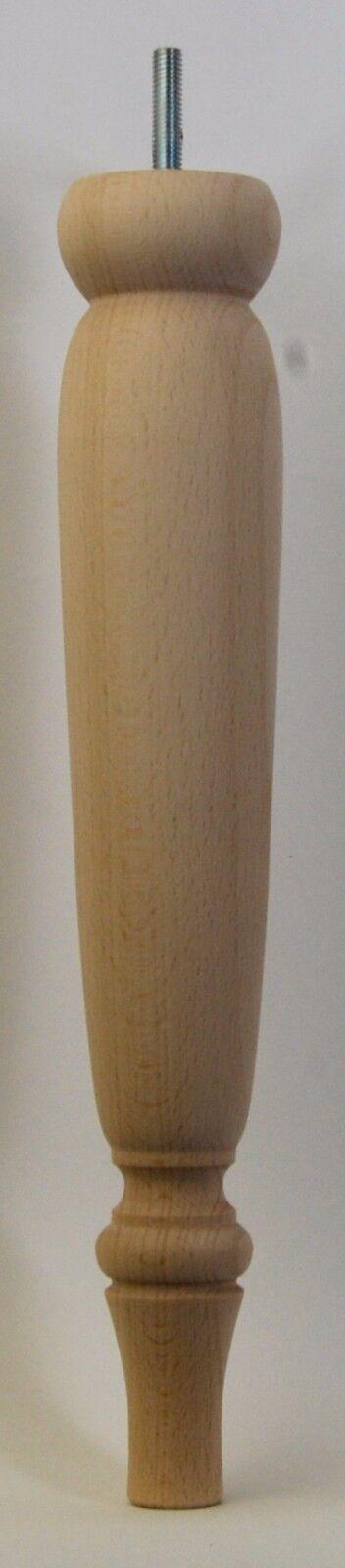 4 Turned Beech legs 330mm (13 ) Ref. E118 Unpolished Footstool legs, Chair legs.