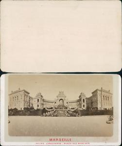 France Marseille Palais Longchamps Vintage CDV Albumen Carte
