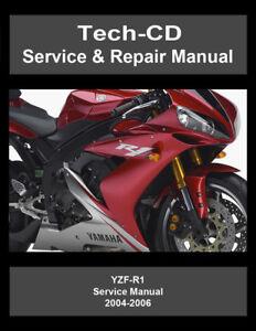 yamaha yzf r1 service repair manual yzfr1 2004 2005 2006 ebay rh ebay co uk 2006 r1 service manual 2006 yzf r1 service manual