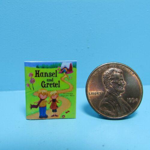 Dollhouse Miniature Replica Book of Hansel /& Gretel
