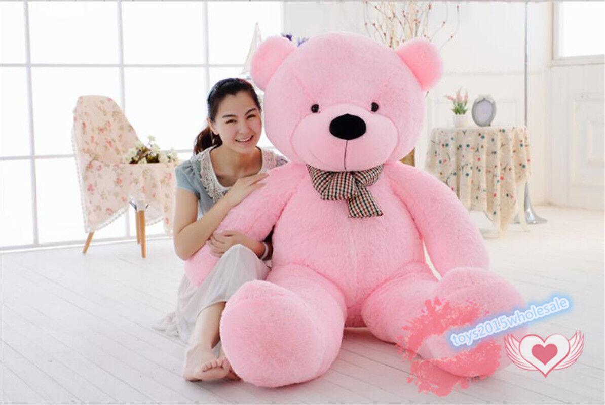 63  gigante enorme grande grande grande rosa Teddy Bear Farcito Animali Peluche peluches bambola regalo di Natale 457022