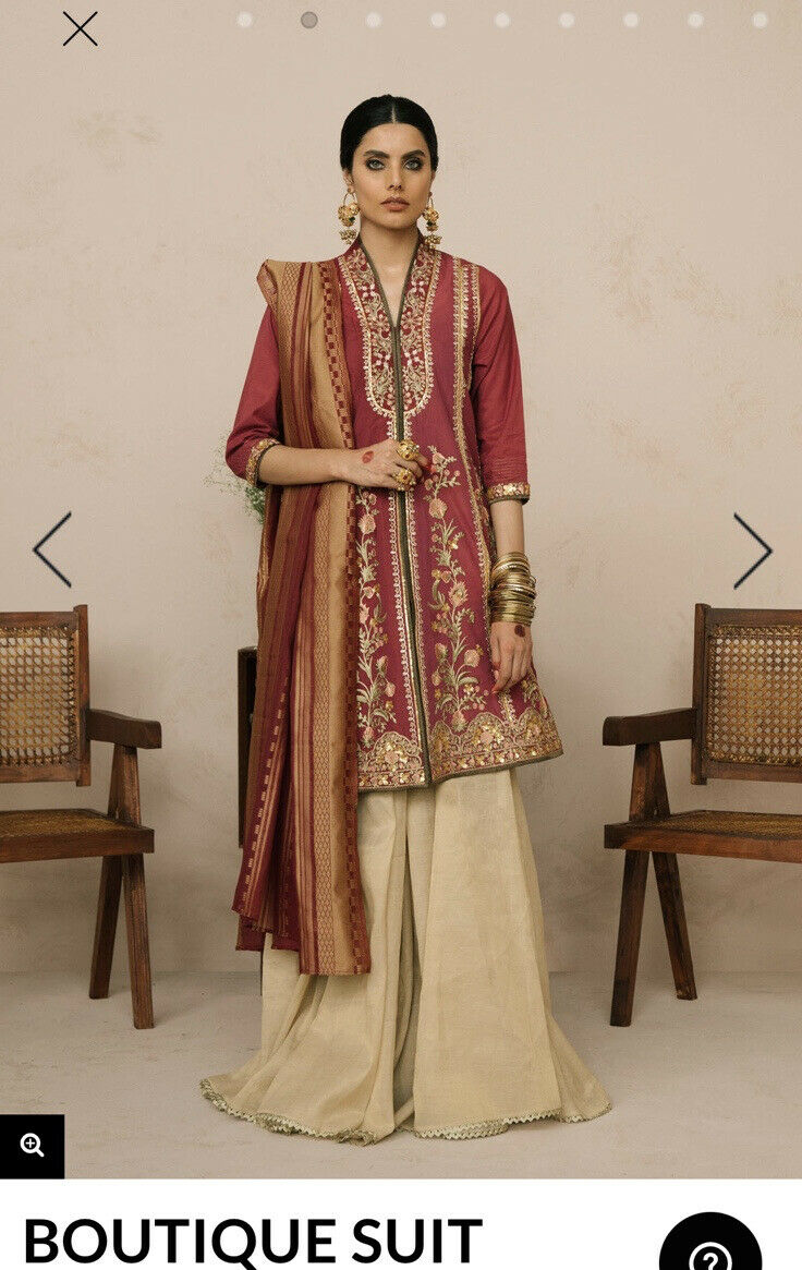 Ethnic By Outfitters Small Fancy Kurta, Palazzo Pants And Dopatta