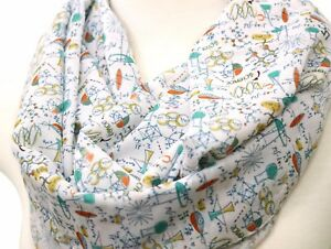 Image Is Loading Science Infinity Scarf Birthday Gift For Her Nerd
