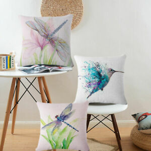 Dragonfly-Painting-Cotton-Linen-Pillow-Case-Throw-Cushion-Cover-Home-Decor-Gift