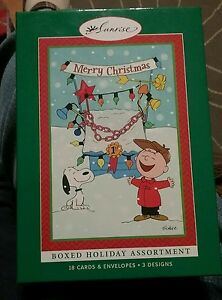 image is loading peanuts christmas cards box 18 asst with envelopes