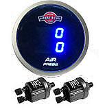 V  Air Gauge Dual 200psi Digital Display Air Ride Suspension System LED