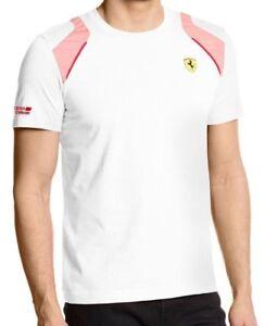 Puma-Men-039-s-Premium-Rosso-Corsa-Ferrari-Sf-Shield-T-Shirt-Tee-White-761468