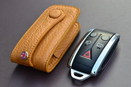 Light Brown leather Key case for Jaguar XJ XJ8 XJR XJS XK XJ4 cover