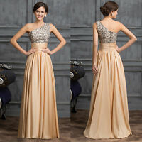 Long Bridesmaid Wedding Party Dress Ball Gown Evening Formal Cocktail Pageant