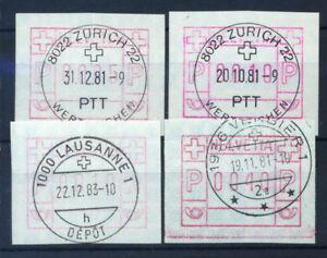 Suisse-1979-Mi-3-Oblitere-100-0005-0010-0040-differentes-couleurs