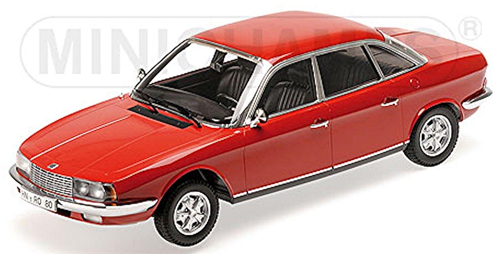 NSU Ro 80 1972 sedán 1967-77 rosso rosso 1 18 Minichamps