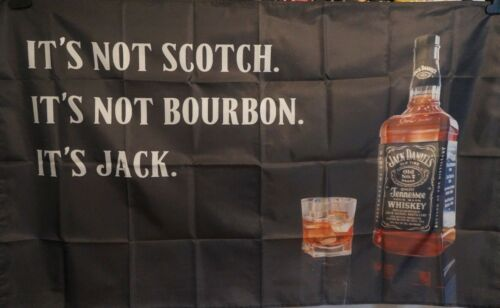 JACK DANIELS Not Scotch Brand Store Poster Fabric Wall Tapestry Man Cave 3x5 Ft