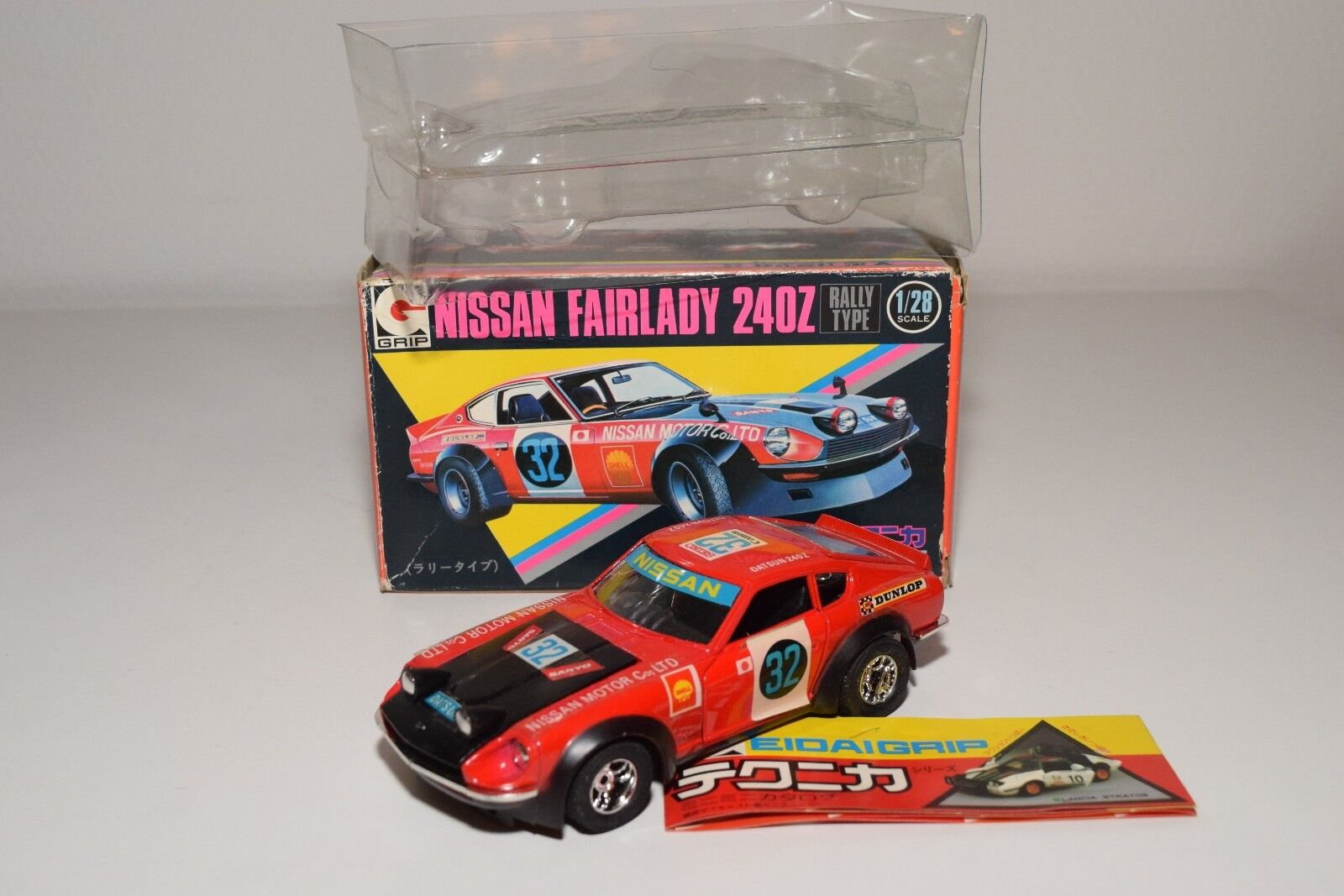 .  EDAI EIDAI GRIP 4 NISSAN FAIRLADY 240Z 240 Z SAFARI RALLY RED MINT BOXED RARE