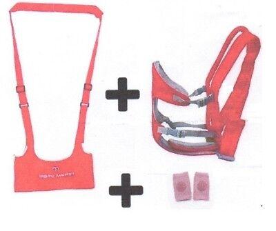 Sistematico Baby Carrier E Baby Walking Assistant, Knee Pad Kit , Combo, Marsupio Elegante E Grazioso