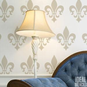 Image Is Loading Fleur De Lis Motif Stencil French Style Paint