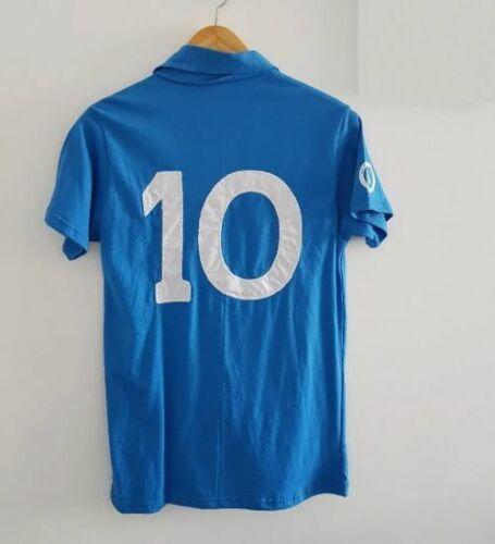 NAPOLI 1987 1988 Diego MARADONA 10 Home Retro Shirt BUITONI Calcio Jersey Soccer