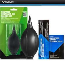 3 in 1 Portable Hurricane Air Blower + APS-C Sensor Cleaning Swab + Cloth Set