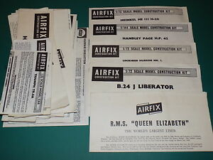 Vintage-Airfix-Instructions-from-Model-Kits-Select-From-List
