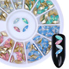 3D Nail Decoration Wheel Nail Art Tips Studs Gem Crystal Glitter Mix Rhinestones