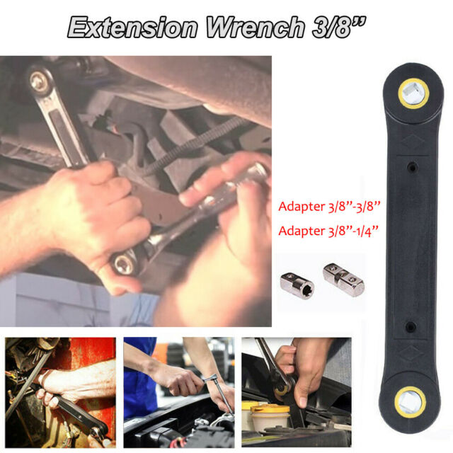 """Universal 1//4/"""" 3//8/"""" Extension Wrench Home Car Vehicle Automotive Repair Tools"""