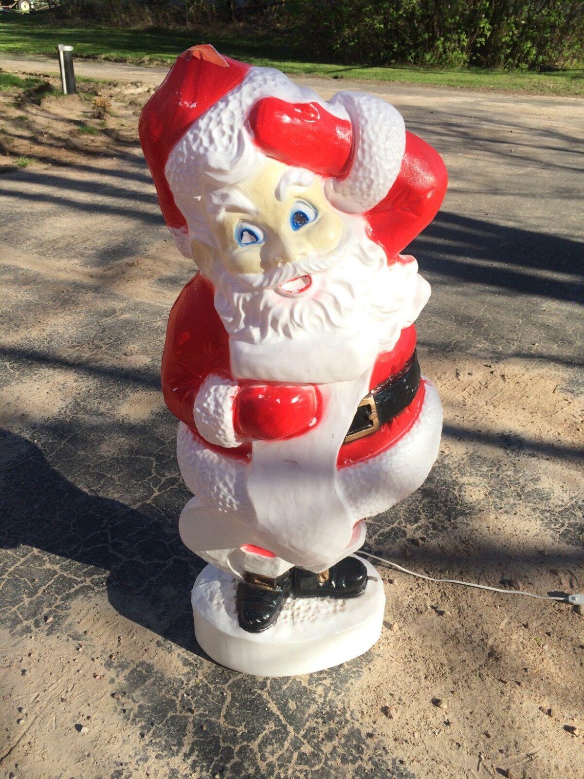 VINTAGE SANTA 44 INCHES BLOW MOLD HOLIDAY CHRISTMAS YARD YARD YARD DECOR f47db6