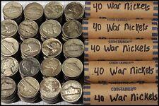 5-Rolls Of War Nickels (200 coin lot), All 35% Scrap Silver, Yields 11+ Troy Oz